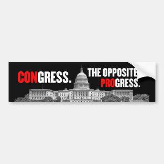 Contrario del congreso de la pegatina para el para pegatina para auto