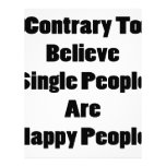 Contrary To Believe Single People Are Happy People Letterhead Design