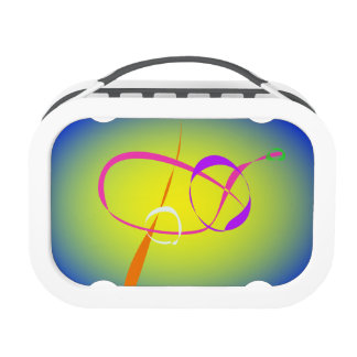 Contrast and Fuzziness Abstract Art Yubo Lunch Box
