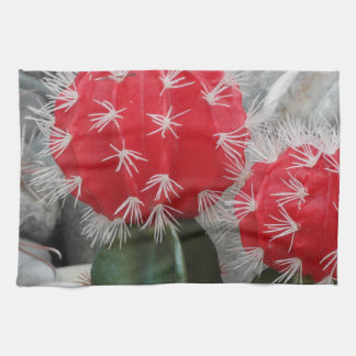 Contrast cactus towels