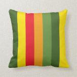 Contrast Color Stripe Pattern Pillow