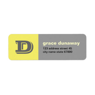 Contrast Colorblock Monogram Return Address Label