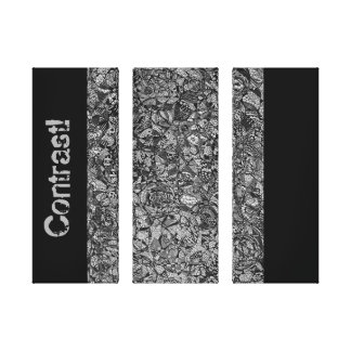 Contrast Drawings Stretched Canvas Print