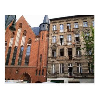 contraste Berlín urbana Postal