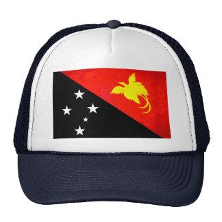 Contraste colorido Papua nuevo GuineanFlag Gorro