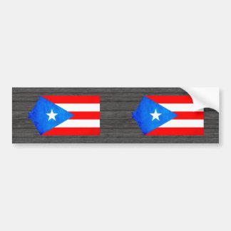 Contraste colorido Puerto RicanFlag Pegatina Para Auto