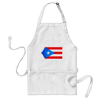 Contraste colorido Puerto RicanFlag Delantal