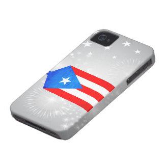 Contraste colorido Puerto RicanFlag iPhone 4 Cárcasas
