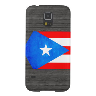 Contraste colorido Puerto RicanFlag Fundas De Galaxy S5