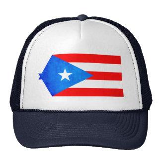 Contraste colorido Puerto RicanFlag Gorro De Camionero