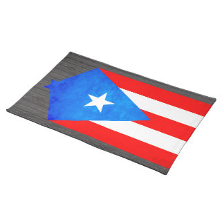Contraste colorido Puerto RicanFlag Mantel