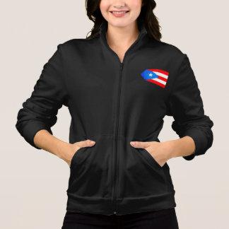 Contraste colorido Puerto RicanFlag Chaqueta Imprimida