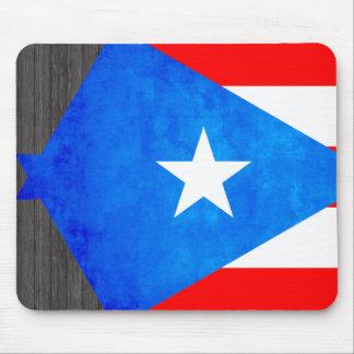 Contraste colorido Puerto RicanFlag Tapetes De Raton