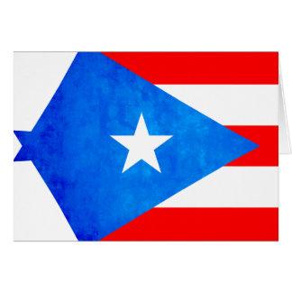 Contraste colorido Puerto RicanFlag Tarjeta De Felicitación