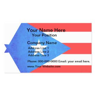 Contraste colorido Puerto RicanFlag Tarjetas De Visita