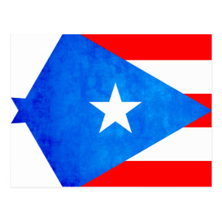 Contraste colorido Puerto RicanFlag Tarjetas Postales