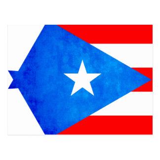 Contraste colorido Puerto RicanFlag Postal