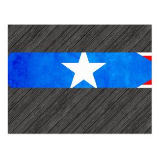 Contraste colorido Puerto RicanFlag Postales