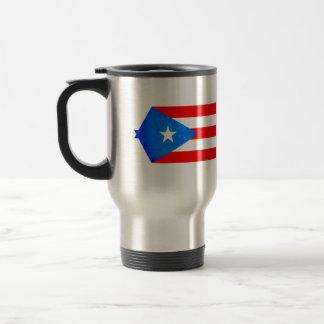 Contraste colorido Puerto RicanFlag Taza De Viaje De Acero Inoxidable
