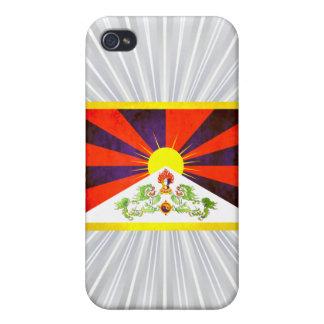 Contraste colorido TibeteseFlag iPhone 4/4S Carcasas