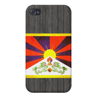 Contraste colorido TibeteseFlag iPhone 4 Funda