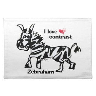 Contraste del amor de Zebraham- I Manteles Individuales