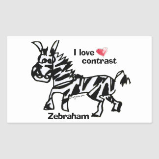 Contraste del amor de Zebraham- I Rectangular Altavoces
