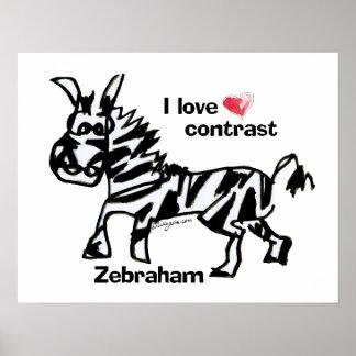 Contraste del amor de Zebraham- I Póster