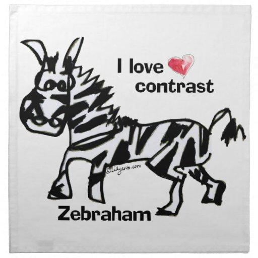 Contraste del amor de Zebraham- I Servilletas Imprimidas