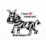 Contraste del amor de Zebraham- I Tarjetas Postales
