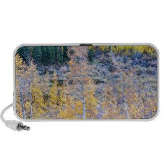 Contraste del otoño de la montaña rocosa laptop altavoces