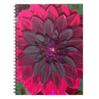 contraste floral rojo beautiful.jpg del amor libreta espiral
