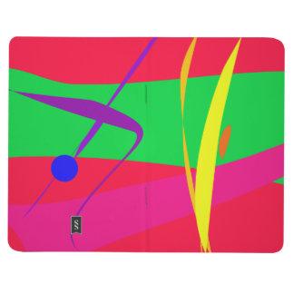Contraste rojo y verde del modelo abstracto cuadernos