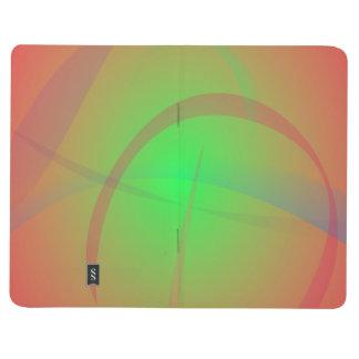 Contraste suave anaranjado y verde cuadernos grapados