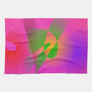 Contrasting Abstract Colors Dark Pink Kitchen Towel