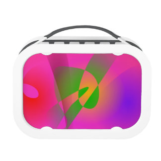 Contrasting Abstract Colors Dark Pink Lunchbox