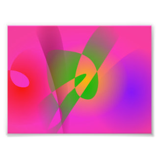 Contrasting Abstract Colors Dark Pink Photographic Print
