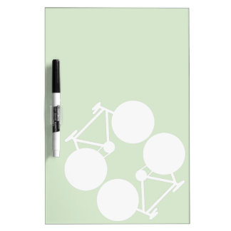 contrasting bicycles graphic Dry-Erase board
