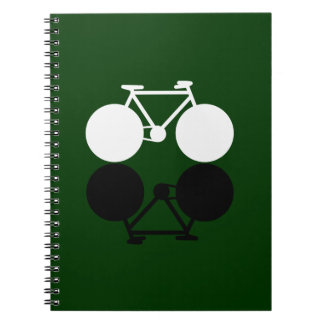 contrasting bicycles graphic notebook