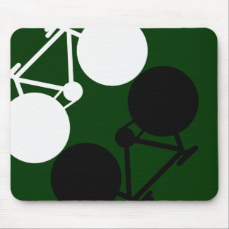 contrasting bicycles mouse pad