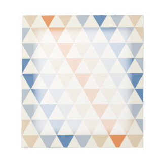 Contrasting Blue Orange And White Triangle Pattern Notepad