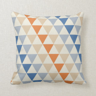 Blue And Orange Triangle Pattern Pillows - Blue And Orange Triangle Pattern Throw Pillows Zazzle