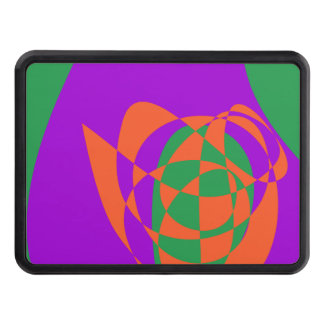 Contrasting Colors Simple Abstract Art Tow Hitch Covers