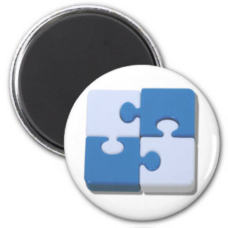 ContrastingPuzzle101310 2 Inch Round Magnet