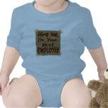 Contráteme, yo son su empleado siguiente trajes de bebé