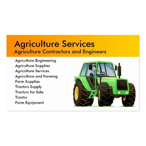 Contratista agrícola tarjeta de negocio