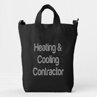 Contratista de calefacción y de enfriamiento bolsa de lona duck