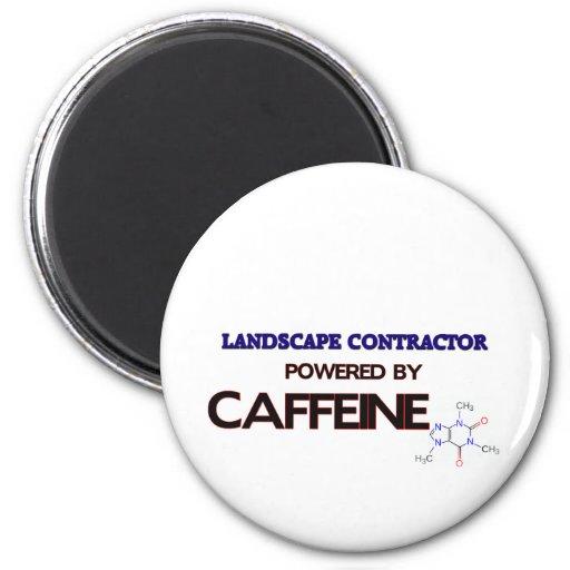 Contratista del paisaje accionado por el cafeína imán para frigorífico