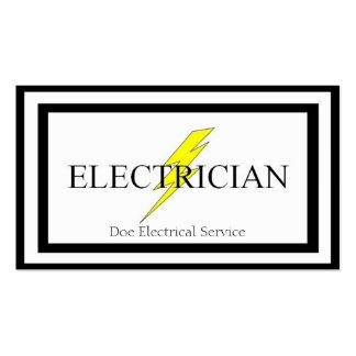 Contratista eléctrico del electricista tarjetas de visita