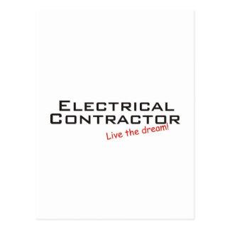 Contratista ideal eléctrico tarjeta postal